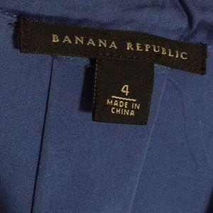 Banana Republic Dresses - Banana Republic silk royal blue wrap dress size 4